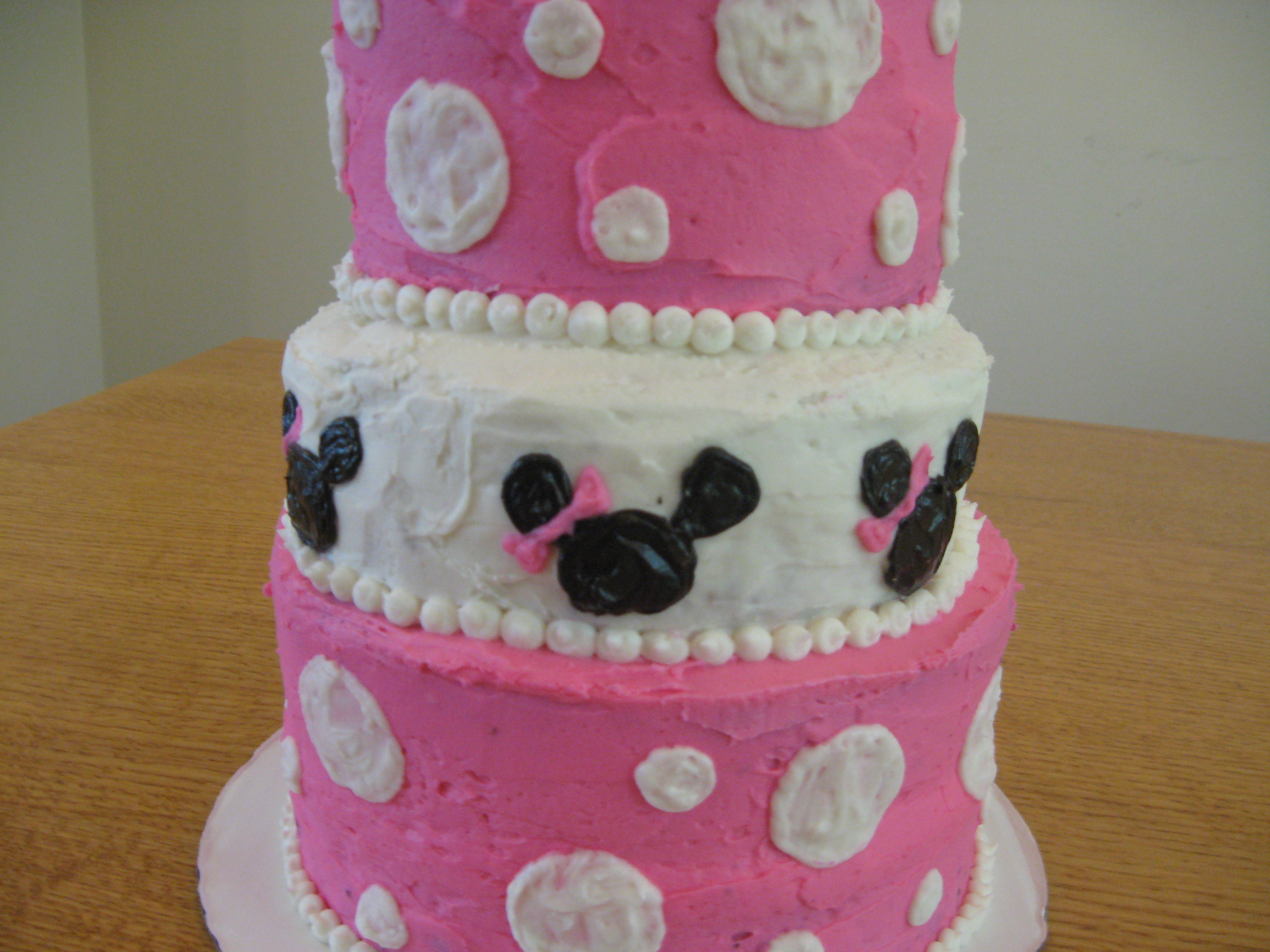 Minnie Mouse Cake Becca Roses Cakery